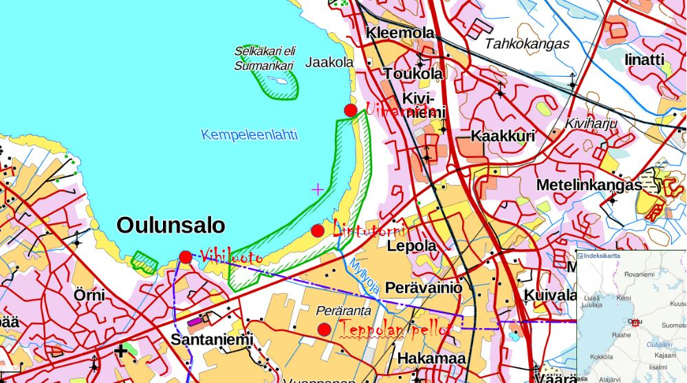 Linturetkiopas Oulu Kempele Pohjois Pohjanmaan